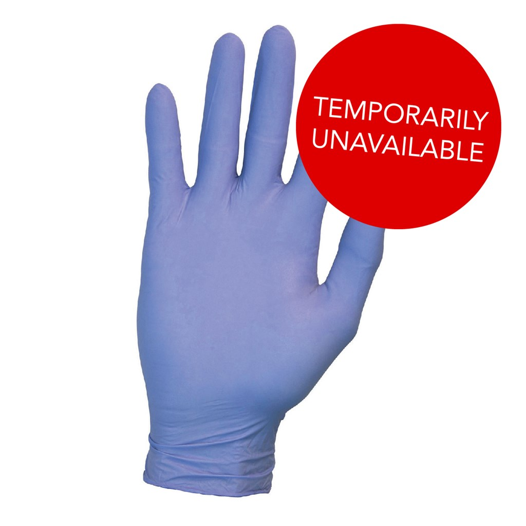 Hand Protection Examination Gloves Powder-free Nitrile Latex-free Tear-resistant Large Blue [Pack 200]