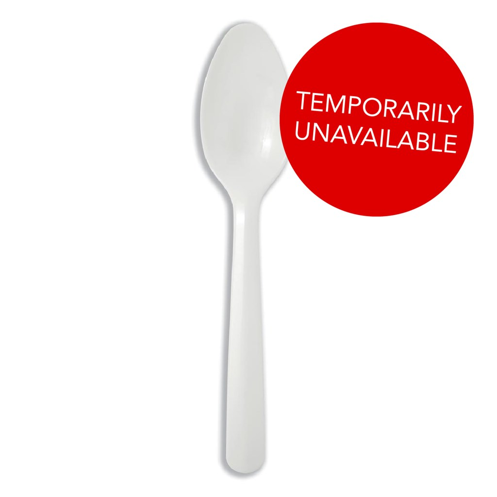 Disposable Cutlery Tea Spoon Disposable Plastic White [Pack 200]
